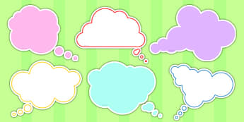 Editable Thought Bubbles Pack - editable, thought bubbles, pack