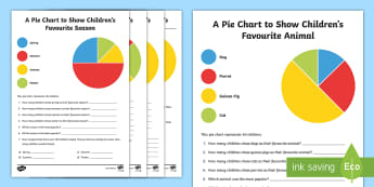 Pie Chart Interpretation Activity Sheets - maths, mathematics, numeracy, activity sheets, fast finisher, division, worksheets, sharing, partiti