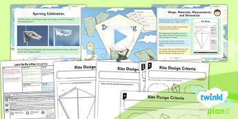 PlanIt - DT LKS2 - Let's Go Fly a Kite Lesson 4: Designing Lesson Pack