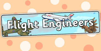 Flight Engineers Themed Banner - display, banner, topic
