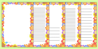Flower Page Border - flower, page border, page, border, flowers