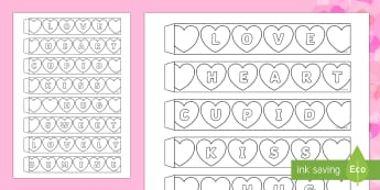 Valentine's Day Hearts Paper Chain Activity - Valentine's Day,  Feb 14th, love, cupid, hearts, valentine,