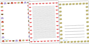 Story Page Borders to Support Teaching on Pants - pant story, page borders, borders, themed page borders, writing frames, writing templates, writing aid, line guides, guides