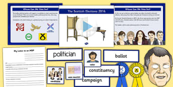 Scottish Elections 2016 Resource Pack - CfE, Scotland, politics, government, parliament, elections, voting