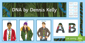 DNA Display Pack - DNA, play, bullying, secondary students, murder, Leah, Phil, John-Tate, Cathy, Brian,Mark, Jan, Rich