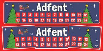 Baner Adfent - cymraeg, baner adfent, baner, adfent, advent banner, advent, banner, christmas