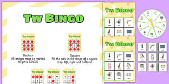 TW Spinner Bingo - tw, spinner bingo, spinner, bingo, activity, game, speech, language