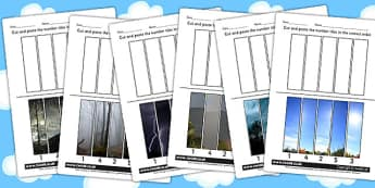 Weather Themed Number Sequencing Photo Puzzles - numbers, games