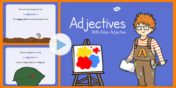 Adjectives PowerPoint - adjectives, powerpoint, words, presentation