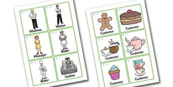 Tea Shop Role Play Badge - tea shop, role play, badge, tea shop badge, role play badge, bages for tea shop, people in the tea shop, badges for role play