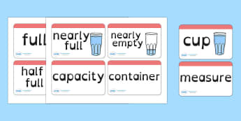 Capacity Word Cards Dyslexia - capacity word cards in dyslexia font, capacity flash cards in dyslexia font, capacity words sen font, maths capacity words