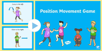 Foundation Position Movement PowerPoint Game - Mathematics, Foundation, measurement and geometry, location and transformation, ACMMG010, movement g