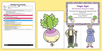 EYFS The Enormous Turnip in a Tangle Finger Gym Plan and Resource Pack
