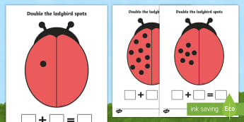 Double The Ladybird Spots Sheets (Minibeasts) - Ladybirds, doubling, doubles, double, numeracy, ladybirds, adding, multiplication, calculation, minibeasts, foundation numeracy