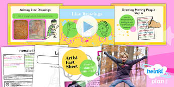 PlanIt - Art KS1 - Portraits Lesson 5: Line Drawings Lesson Pack