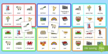Bingo Dydd Gŵyl Dewi Bingo - Dewi Sant, dydd gwyl dewi, bingo, loto, darllen,Welsh
