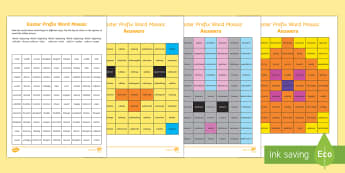 Easter Spelling Patterns Mosaic Activity Pack - LKS2, lower, KS2, Easter, 2017, (16th April), Spellings, English, Reading, Year 3, Year 4, Homophone