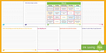 March Writing Prompts Display Calendar - Literacy, March Writing Prompts Display Calendar, ACELY1661, ACELY1671, creating texts, year one, ye