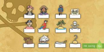Auto registro: Los piratas - editable - Los piratas, proyecto, transcurricular, el mar, barcos, pasar lista, identificación, nombres,Spanis