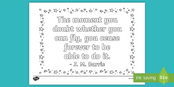 Cease to Fly Quote Colouring Page - New Zealand Chapter Chat, Chapter Chat NZ, Chapter Chat, Ms BIxby's Last Day, quote