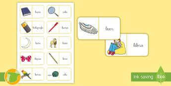 Dominos: La letra L - lecto, leer, lectura, sonidos, letra , lecto-escritura, fónemas, sonidos, letra l, sonido l, fonema