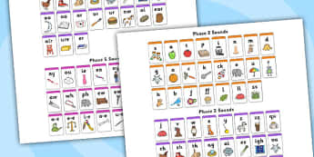Phase 2,3 and 5 Wall Chart - Phonemes, phase chart, wall chart, phase display, phoneme,digraph display, Letters and Sounds, Alphabet, A-Z letters, Alphabet flashcards, letters and sounds, DfES, display, phase2