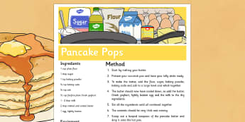 Pancake Pops Recipe - Recipe, pancake day, shrove Tuesday, pancake pops