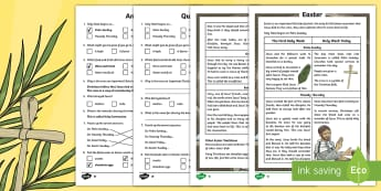 KS2 Easter Differentiated Reading Comprehension Activity - KS2 Easter 2017 (16th April), Easter comprehension KS2, Easter comprehension ks2, KS2 Easter compreh