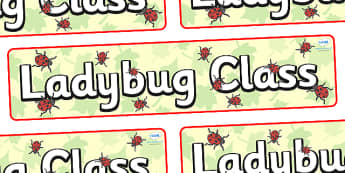 Ladybug Themed Classroom Display Banner - Themed banner, banner, display banner, Classroom labels, Area labels, Poster, Display, Areas