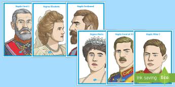 Familia regala a Romaniei Planșe - istorie, familia regală, regele Carol I, regele Ferdinand, regina Maria, regina Elisabeta, regele M