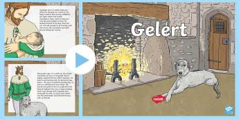 The Legend of Gelert PowerPoint - Gelert, legend, chwedl, castell, castle, Beddgelert, Gogledd Cymru, North Wales, hela, hunting, houn
