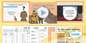 PlanIt Y5 Term 2A W5: Homophones and Near Homophones Spelling Pack - Spellings Year 5, year 5, y5, spelling, SPaG, GPS, homophones, weekly, weeks, lists, packs,