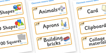 Lion Themed Editable Classroom Resource Labels - Themed Label template, Resource Label, Name Labels, Editable Labels, Drawer Labels, KS1 Labels, Foundation Labels, Foundation Stage Labels, Teaching Labels, Resource Labels, Tray Labels, Printable labe