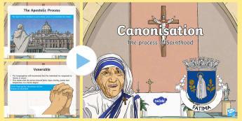 Canonisation PowerPoint - mary, fatima, saint, canonisation, Beatification,Scottish