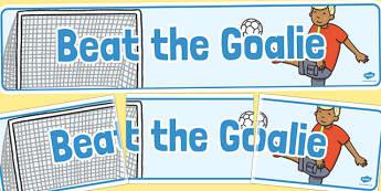 Beat the Goalie Banner - beat the goalie, banner, summer, fayre