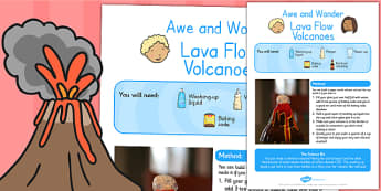 Lava Flow Volcanoes Awe and Wonder Science Activity - science