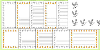 Pentecost Page Borders - Pentecost, Whit, Whitsun, ascension, story writing, writing frames, writing template, page borders