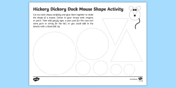 Hickory Dickory Dock Mouse Craft Activity - World Nursery Rhyme Week, hickory dickory dock, mouse, rhyme, craft, art,