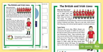 KS1 Lions Rugby Tour Differentiated Comprehension Go Respond  Activity Sheets - Rugby Union, British and Irish Lions, Home Nations, New Zealand, Sports, Reading, interactive, ipad