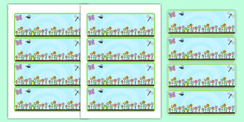 Spring Themed Editable Lables - spring, seasons, weather, labels