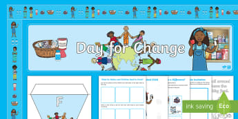 Unicef Day for Change 2017 EYFS Resource Pack - eyfs, early years, Unicef, malnutrition, Day for Change, activities, banner, borders, bunting, displ
