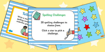 Spelling Challenge PowerPoint - spelling challenge, spelling, spelling test, testing spelling, powerpoint, spelling powerpoint, spelling games, games