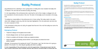Buddy Protocol Young People & Families Case File Recording Template - Young People & Families Case File Recording, referral, chronology, contents page,buddy system, safeg