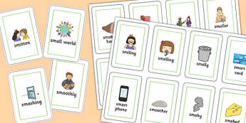 Two Syllable 'SM' Playing Cards - sm sound, syllable, playing cards, sound