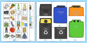 Recycling Sorting Activity Arabic Translation - arabic, Recycling, sorting, sort, eco School, Eco, Recycle, environment, recycling, eco class, recycling posters, A4, display, turn off, lights, computer, paper, electricity, saving