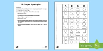 2D Shapes Squashy Box Craft - Mental Maths Warm Up + Revision - Northern Ireland, squashy boxes, 2d shapes, order, pentagon, squar