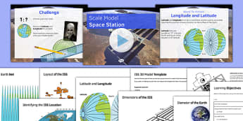 Scale Model Space Station - maths, KS 3, KS 2, space, ISS, space station, scale, ratio, model building, coordinates, latitude, longitude, shape, sphere, nets