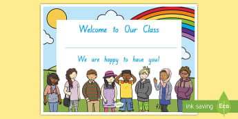 Welcome to Our Class Certificate - New Zealand, Class Management, welcome, class, new child