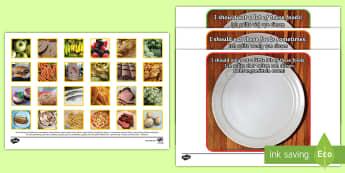Photo Healthy Eating Sorting Activity English/German - Photo Healthy Eating Sorting Activity - sorting, activity, photo, healthy eating, healthy eatng, EAL