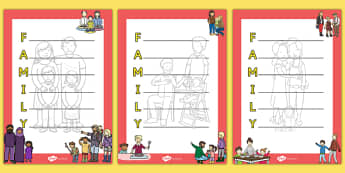 Family Acrostic Poem - family, acrostic poem, acristic, poem, poetry, activity